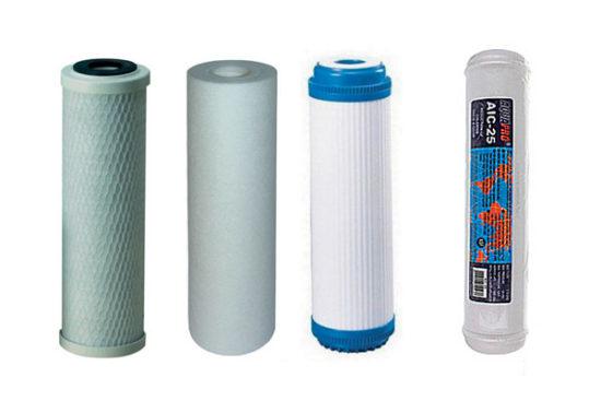 Jeu de 4 filtres de remplacement <br/> pour osmoseur