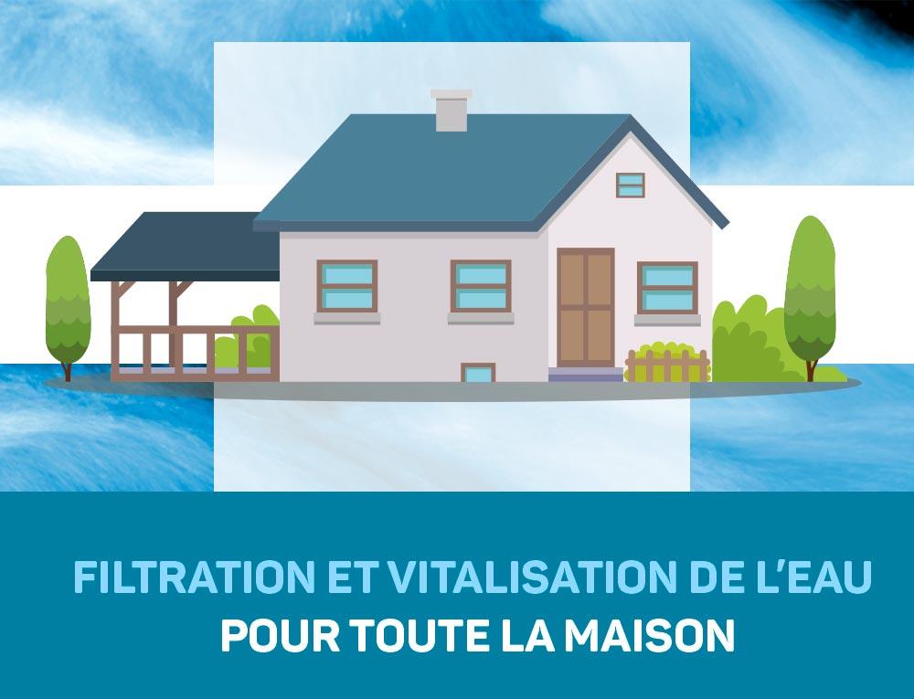 Filtration et Vitalisation de l'eau pour toute la maison